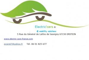 Electrical Cars logo carte visite 2015